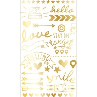 Натирки Project Life Foil Rub-Ons - Gold от American Crafts