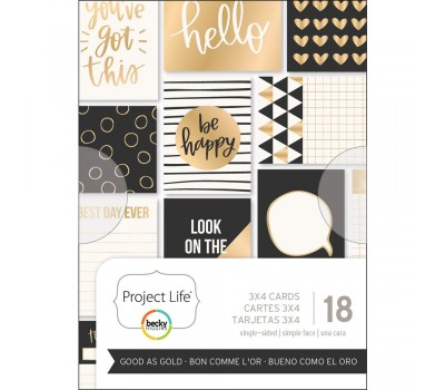 "Карточки Project Life Themed Cards 3""X4"" 18/Pkg - Good As Gold"