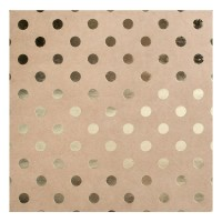 "Кардсток Bazzill Foiled Kraft Cardstock 12""X12"" - Gold Dot"