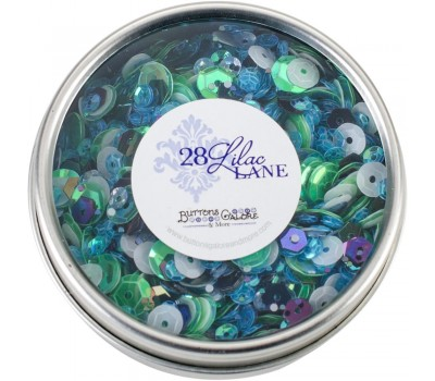 Пайетки 28 Lilac Lane Tin - Party Time от Buttons Galore
