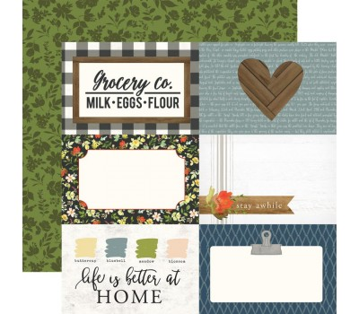 "Лист бумаги Welcome Home - 4""X6"" Journaling Cards от Carta Bella"