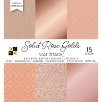 Набор бумаги 15*15 см Solid Rose Golds от DCWV