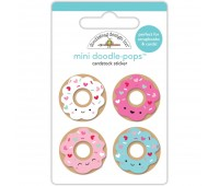 3D стикер Cream & Sugar Mini Donuts - Doodlebug