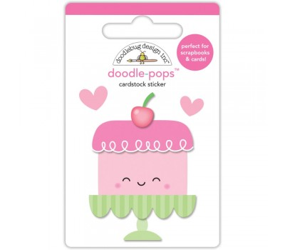 3D стикер Cream & Sugar Sweet Cake - Doodlebug