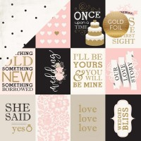 "Лист бумаги Wedding Bliss - 3""X4"" Journaling Cards от Echo Park"