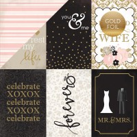 "Лист бумаги Wedding Bliss - 4""X6""  Journaling Cards от Echo Park"