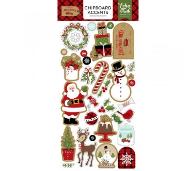 """Чипборд Celebrate Christmas Chipboard 6""""""""X13 - Accents -  Echo Park Paper"""
