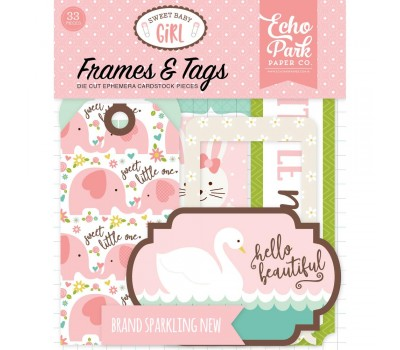 Высечки Sweet Baby Girl Cardstock Frames/Tags