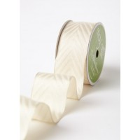 Лента Woven Hidden Arrow Ribbon 3,7 см IVORY, 90 см от May Arts