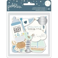 Высечки Night Night Baby Boy Ephemera -Pebbles
