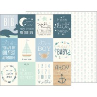 Лист бумаги Night Night Baby Boy - Ahoy Baby Boy! Cards от Pebbles