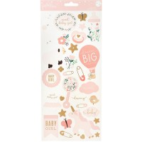 Стикеры Night Night Baby Girl Icons&Accents - Pebbles