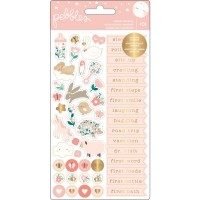 Стикеры Night Night Baby Girl - Repeat Stickers от Pebbles
