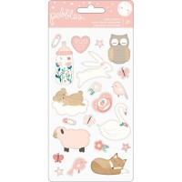 Стикеры объемные Night Night Baby Girl Puffy Stickers