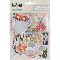 Высечки Twilight Ephemera Cardstock Die-Cuts 40/Pkg от One Canoe Two