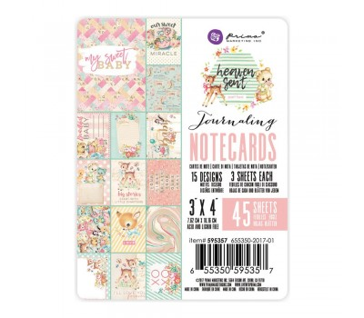 "Карточки Heaven Sent 2 Double-Sided Journaling Cards 3""X4"""
