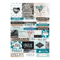 Стикеры Zella Teal Stickers Words от Prima Marketing