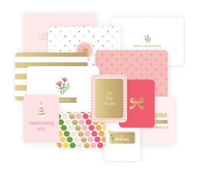 Карточки Project Life Specialty Foil Baby Girl Card 12 шт