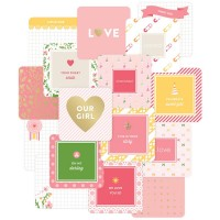"Карточки Project Life 4""X4"" Baby Girl Cards 12 шт"