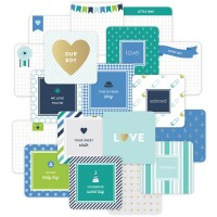"Карточки Project Life 4""X4"" Baby Boy Cards 12 шт"