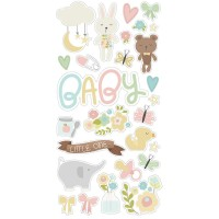 "Чипборд Oh Baby! Chipboard Stickers 6""X12"" - Simple Stories"