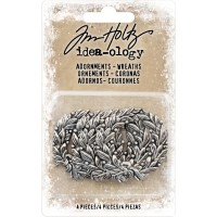Набор украшений Idea-Ology - Antique Nickel Wreaths 4/Pkg от Tim Holtz